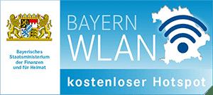 Logo BayernWLAN kostenloser Hotspot
